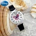 Микки маус bling горный хрусталь Роскошные дамы наручные часы женщины одеваются моды случайные кварцевые часы Top brand Disney 11004 часы час