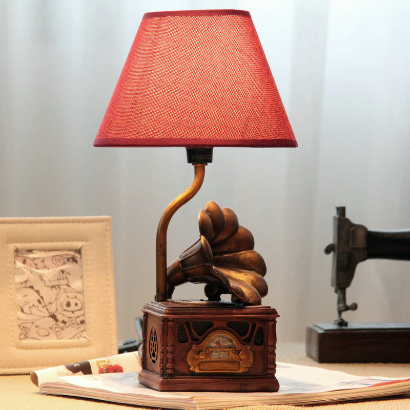 bedroom table lamps graphophone table lamps vintage style table light 10699