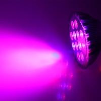2016 E27 AC85 265V LED Grow Lamp 12pcs Red 6pcs Blue 12W Plant Grow Light Bulb