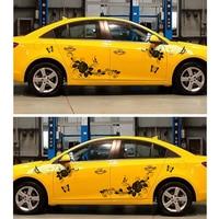 New 150CM JDM Car Sticker Love of Butterflies & Flower Decal Whole Body Vinyl Car Body Covers Auto Accessory Car Refitting DIY