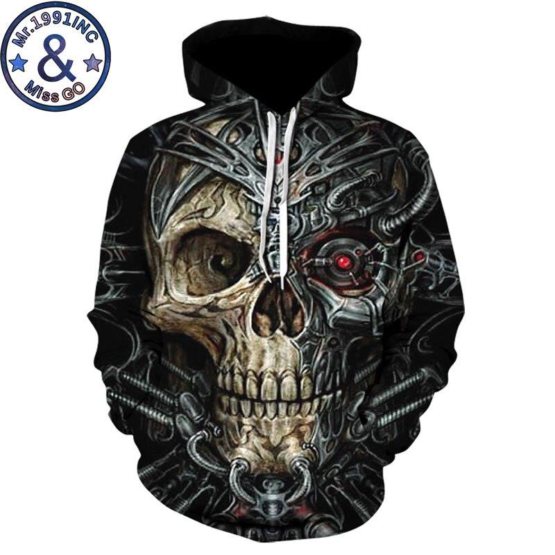 Metal Skull Hooded Sweatshirt Men/Women 3D Hoodies Sweatshirts Men Hip Hop Streetwear Hoodie Tracksuit Pullovers Sweat Homme 5XL