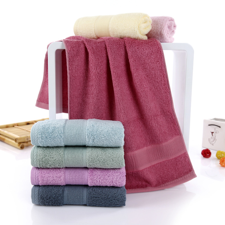 2pcs/lot Antibacterial Bamboo Face Hand Towel 34*75cm