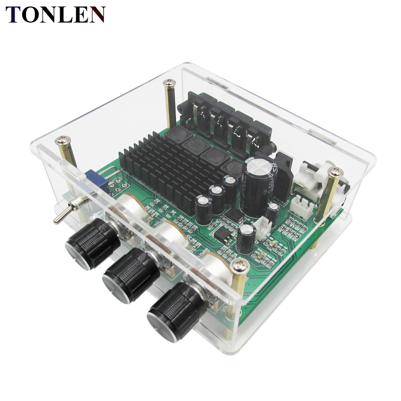 TONLEN TPA3116D2 Digital Audio Amplifier Board 12V 80W*2 2.0 channels High Power Amplifiers Board Module DIY HIFI Amp цена