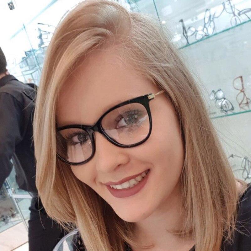 Women Metal Legs Designer Optical Eyeglasses Prescription Acetate Rim Spectacles for Big Rim Glasses Frame Fashion Styles 97335