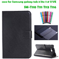 FM case for samsung galaxy tab 3 lite 7.0 SM-T113 SM-T116 SM-T116NU 7''  tablet cover case+screen protector+stylus