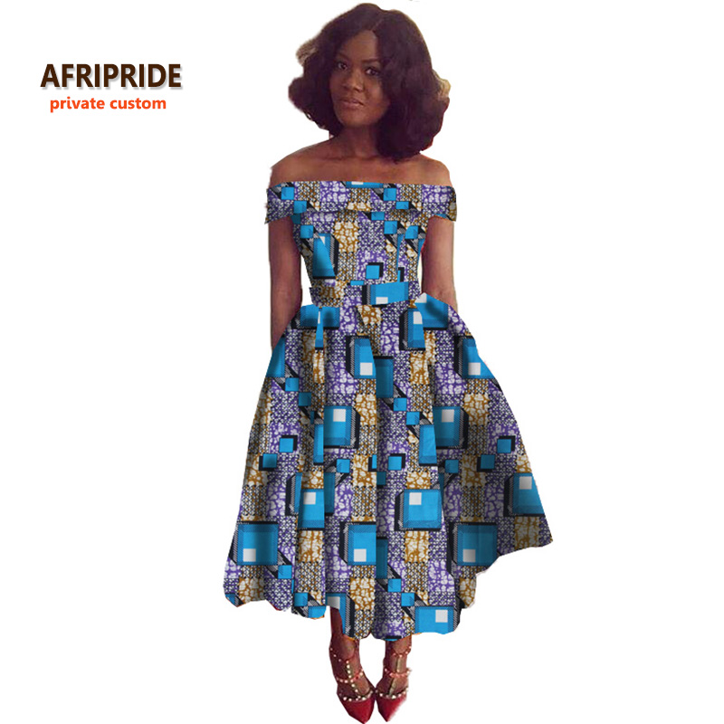 super deal 2018 new fabric pattern african style dress for