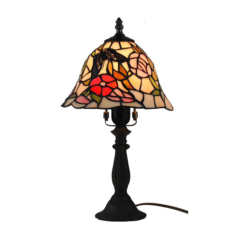 Tiffany Desk Lamp European Stained Glass Dinning Table Light Bedside Baroque Butterfly Shades Colorful Reading Desk Light TL186