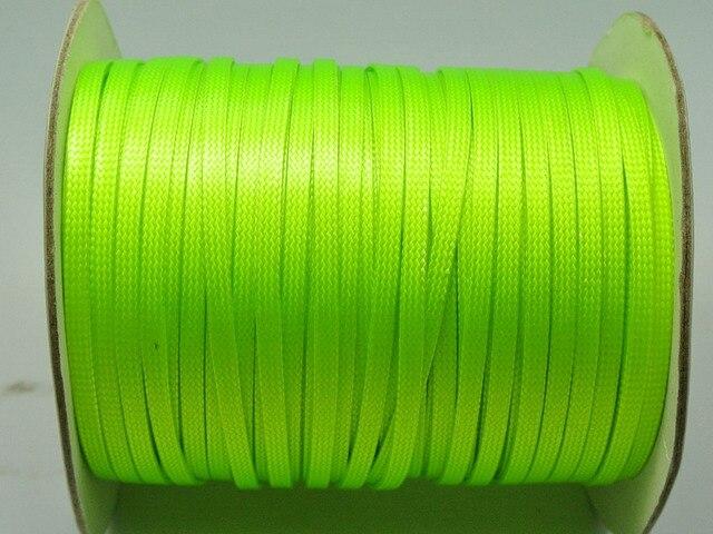 100 Yards Neon Green FLAT Korean Waxed Cord Craft Lace String Thread 4mm
