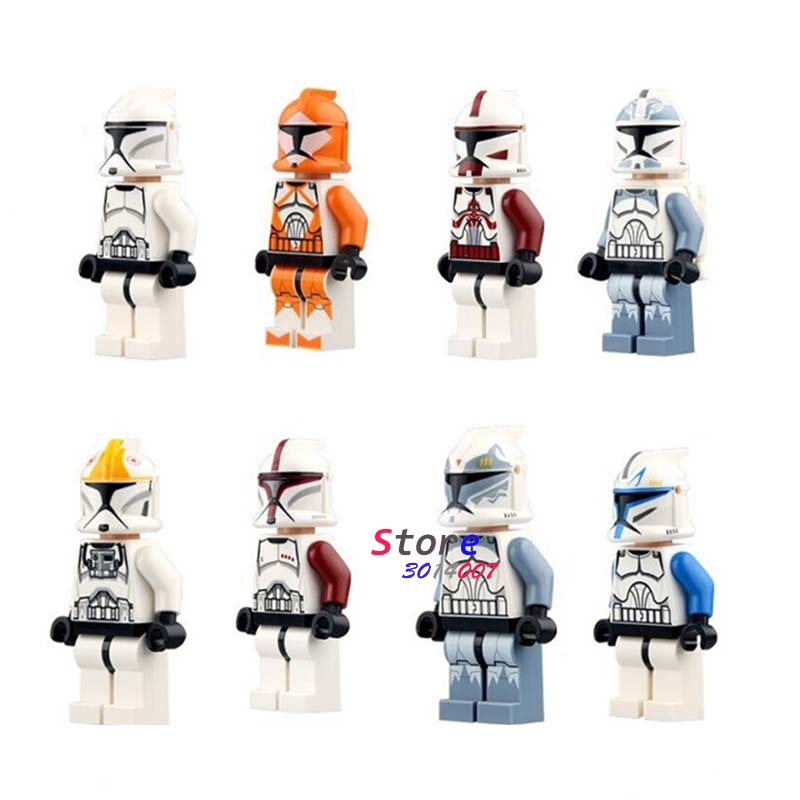 Single Star Wars The Force Awakens Clone Trooper Commander Fox Rex  building blocks models bricks toys for children kits portable thicken pure stainless steel body moxibustion device moxa box new type