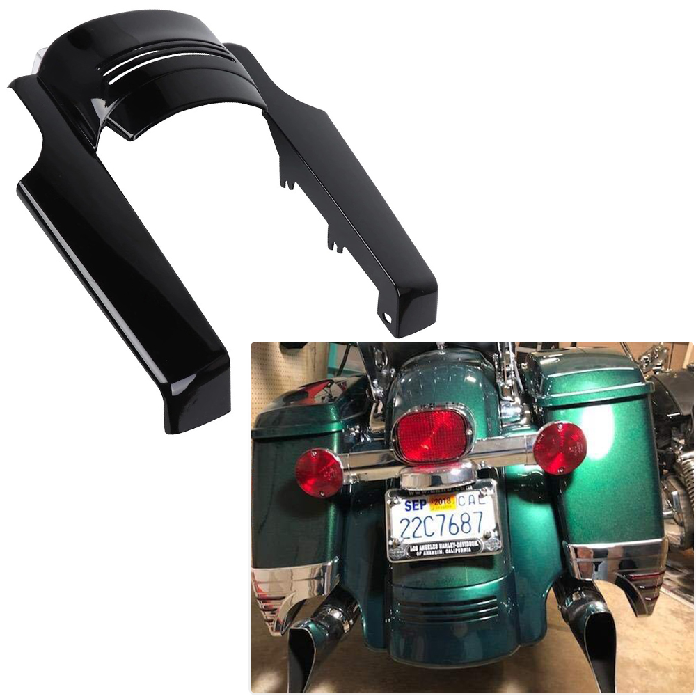 5 Rear Fender Extension Short Filler Stretched ABS Plastic for Touring Electra Street Glide Road King