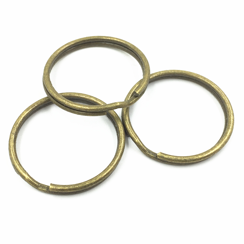 20Pcs Bronze Tone Double Jump Ring Round Alloy Fashion Jewelry DIY Making Findings Charms Craft 30mm