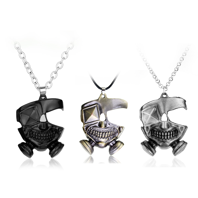 Pendants Necklaces & Pendants Punk Mask Necklaces Japanese Anime Black Gas Mask Cosplay Pendant For Women And Men Fans