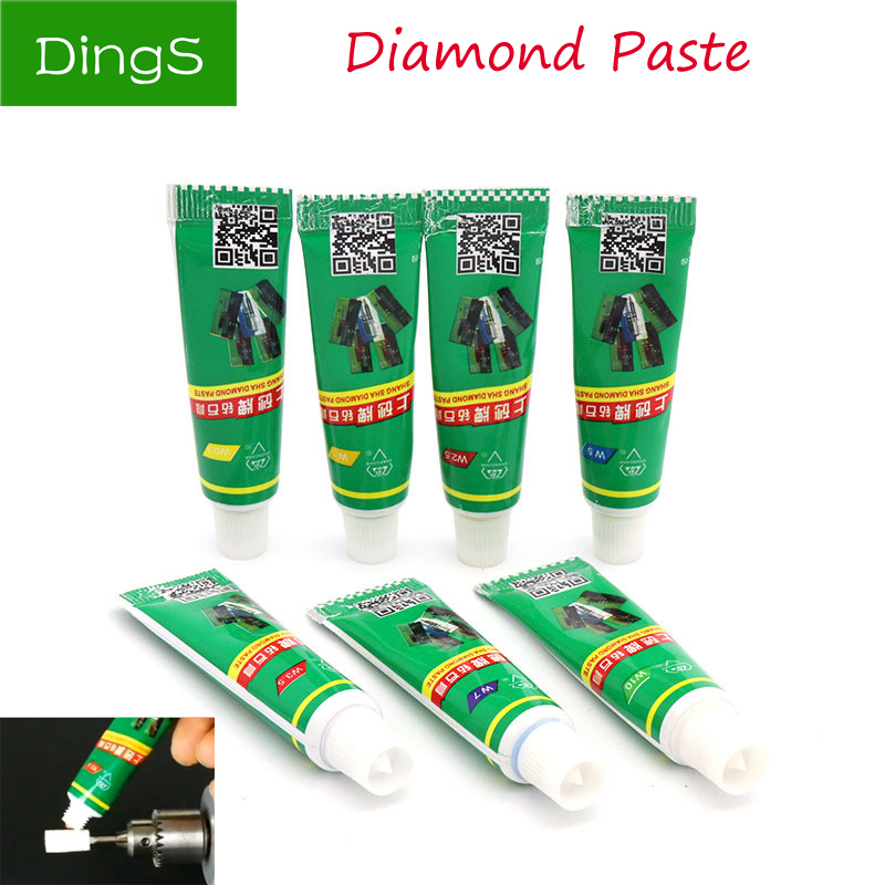 1pcs Diamond Grinding Polishing Paste W0.5-W40 Needle Tube Paste Lapping Compound Metal Jade Amber Buffing Abrasive Tools