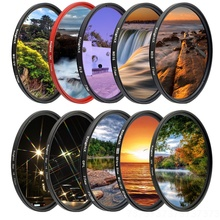 KnightX FLD UV CPL ND2 ND4 ND8 Star gnd Camera Lens Filter For canon sony nikon 50d accessories d3300 24-105 400d photography camera accessories for gopro hero5 hero 5 52mm 8 in 1 lens filter cpl uv nd8 nd2 star 8 red yellow fld purple