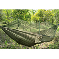 Portable High Strength Parachute Fabric Hammock Hanging Bed with Mosquito Net 3 Colors FG