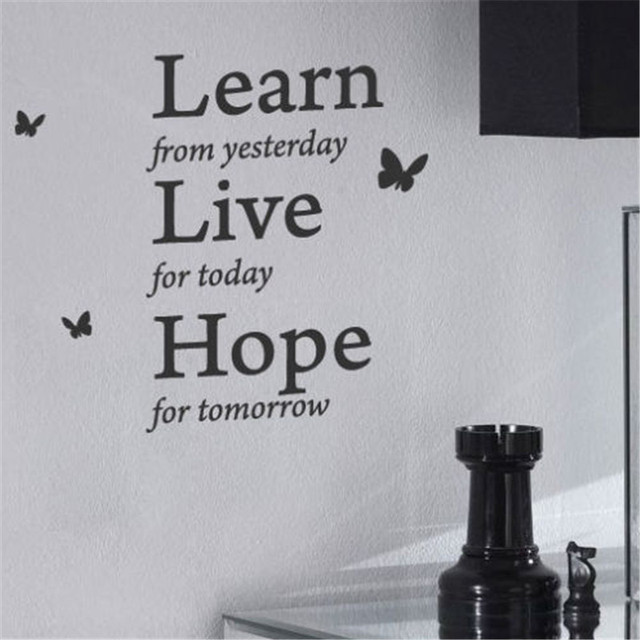 Love Art Quotes Amazing Learn From Yesterday Family Love Art Wall Quoteswall Stickerwall
