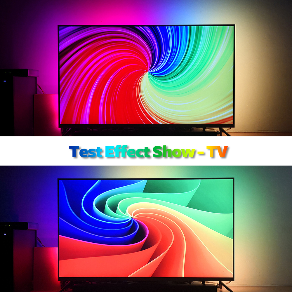 DIY Ambilight TV PC Dream Screen USB LED Strip HDTV Computer Monitor Backlight Addressable WS2812B LED Strip 1/2/3/4/5m Full Set 5