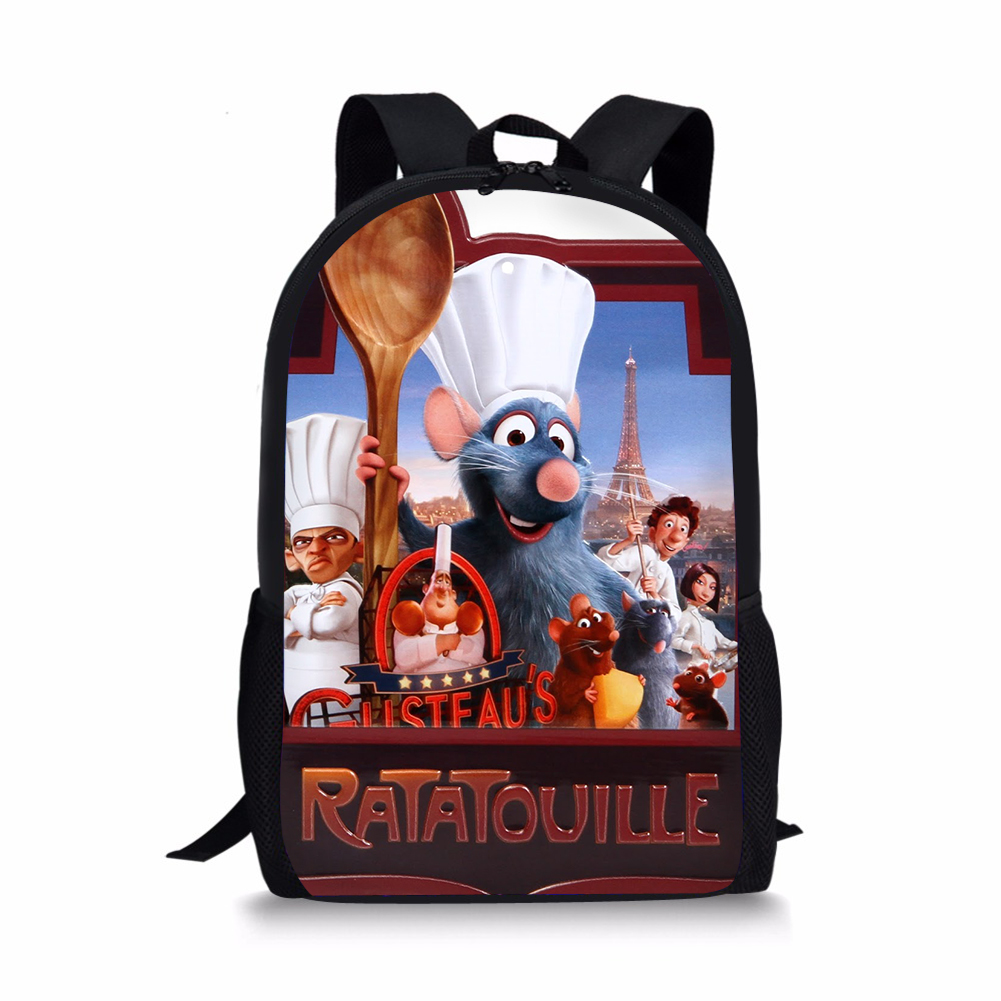 Cartoon RATATOUILLE Printing Students School Backpack High Quality Kids BookBag Satchel Large Daypack Boys Mochila 2019