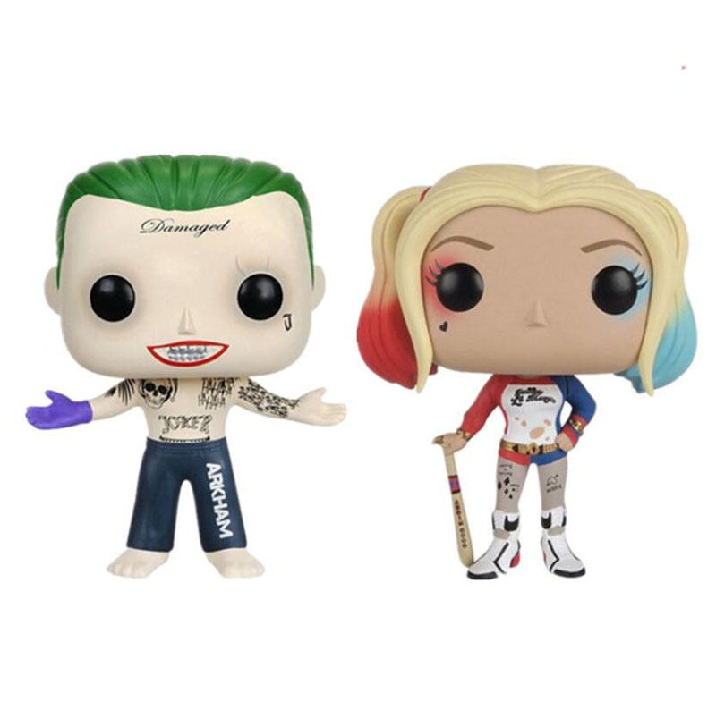 <font><b>FUNKO</b></font> <font><b>POP</b></font> <font><b>Suicide</b></font> <font><b>Squad</b></font> The Joker Harley Quinn Deadshot <font><b>Action</b></font> <font><b>Figure</b></font> 10CM PVC Collectible Model Toy