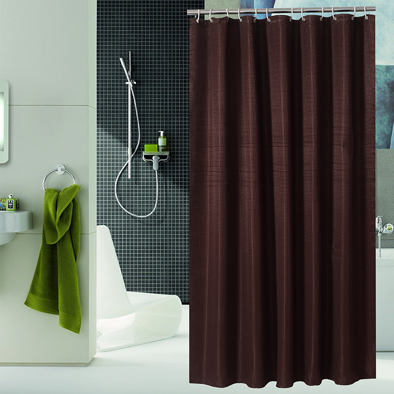 Chocolate color shower curtain polyester waterproof for Colores de cortinas