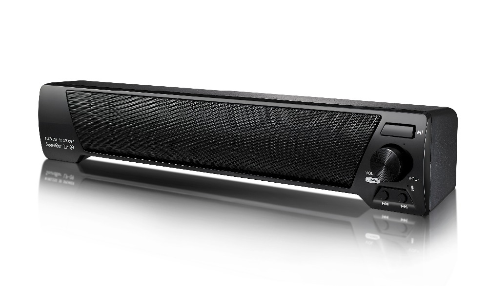 LP-09 Slim Magnetic Wireless Soundbar HIFI Box Bluetooth Subwoofer Speaker Boombox Stereo Portable Hands-free for TV PC