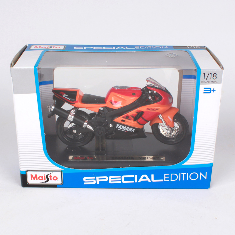 Купить с кэшбэком Maisto 1:18 YZF-R7 orange motorcycle diecast for yamaha motorcycle model motorbike motorcar for collecting 334