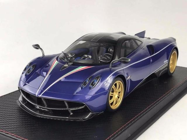 Resin Car Model FrontiArt Avan Style Pagani Huayra 1:18 (Purple Blue