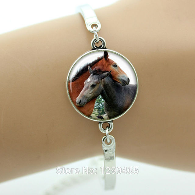 hot sale amazing fashion horse bracelet valentines day jewelry antique silver plated personalized gift for men - Valentine Day Jewelry Sales
