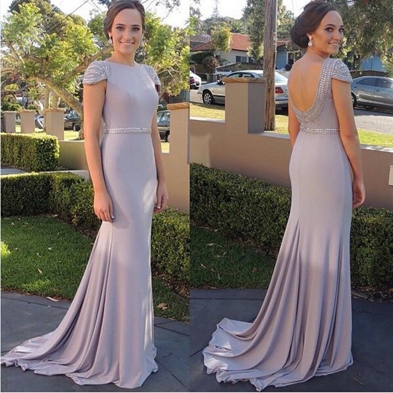 Elegant Off Shoulder Mermaid Formal Evening Dress Lace Backless Prom Ball Gown