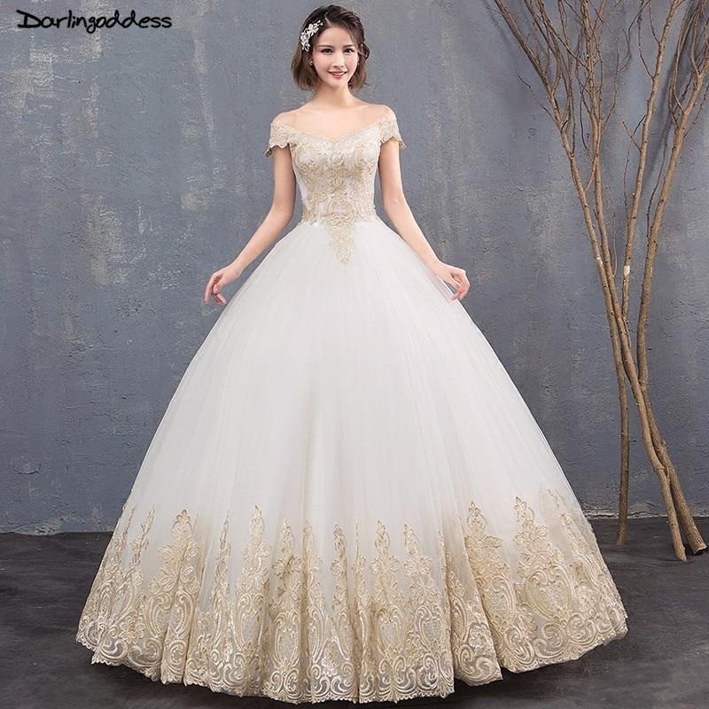 Luxury Ball Gown Wedding Dress Dubai Royal Train Wedding Gowns 2018