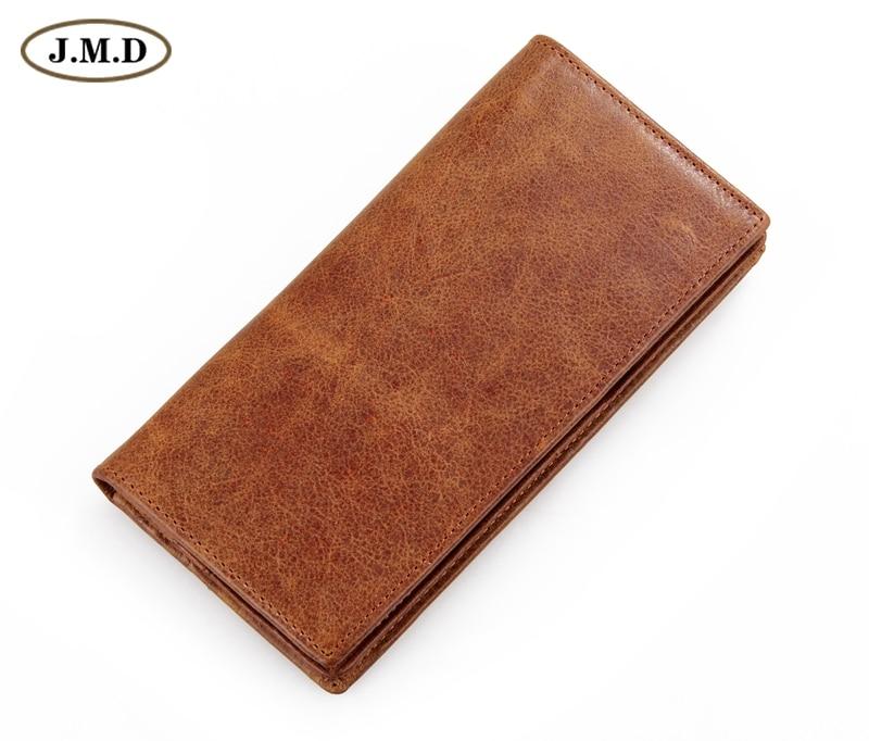 Бесплатная доставка 100% натуральная кожа мода долго бумажник карие # 8030B