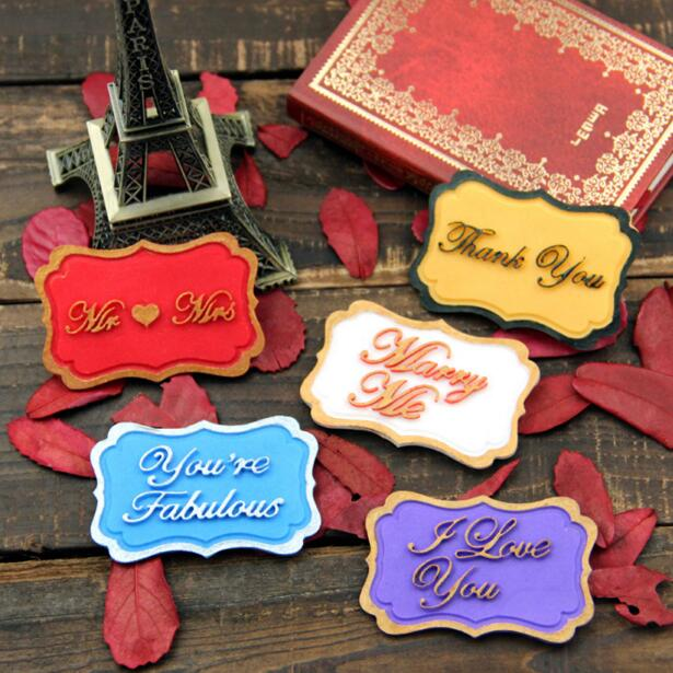Birthday wedding blessing greeting cards nameplate fondant cake birthday wedding blessing greeting cards nameplate fondant cake decoration biscuit chocolate silicone mold baking tools m4hsunfo