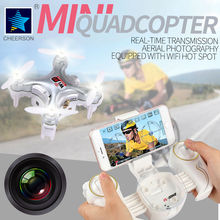 Cheerson Quadcopter CX-10W Drone With 0.3MP Camera 4CH 6-Axis Helicopter with LED light Phone WIFI control RC toys Throw to Fly