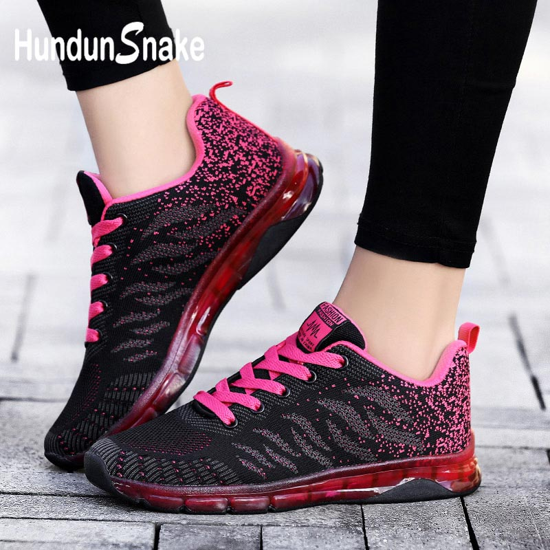 Hundunsnake Summer Running Shoes For Women Red Sneakers Woman Mesh Gym Shoe Women Air Cushion Krasovki Tennis Training Walk G-33