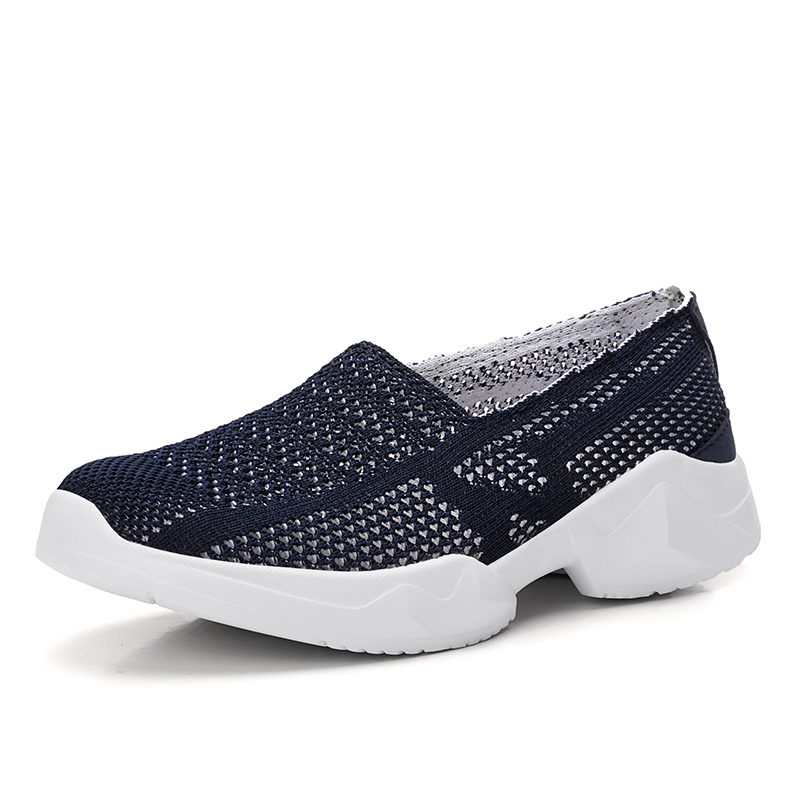 LEMAI Women Loafers Flats Shoes 2019 Summer Breathe Mesh Slip on Loafers Fashion Fly Knit Lightweight