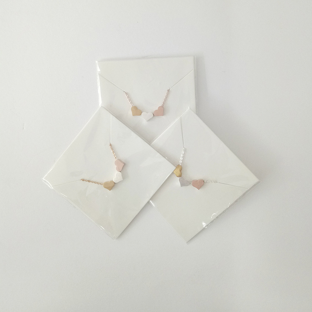 Elegant Three Hearts Shaped Women's Pendant Necklace