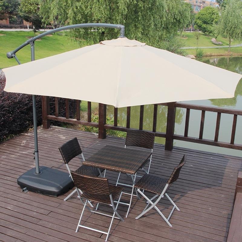 Outdoor UV Proof Sunshade Umbrella Folding Beach Umbrella Waterproof Booth Umbrella Sun Shelter Advertising Tent 3.0 Metre Round