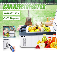 20L Car Fridge Compressor DC 12V/24V Car Refrigerator Freezer Cooler for Car Home Picnic Refrigeration Freezer 5~65 Degrees