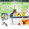 Refrigerador do congelador da geladeira do carro da c.c. 12 v/24 v de 20l para o congelador da refrigeração do piquenique da casa do carro-5 65 65 graus