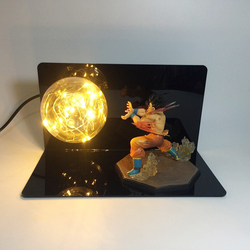 Dragon Ball Z żarówka Home lampa stołowa lampki nocne Dragon Ball super goku Kamehameha lampa na świąteczne dekoracje ue US 110V 220V