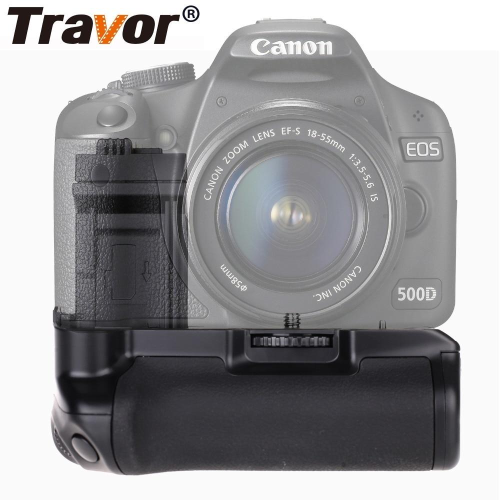 Travor Fotocamera Verticale Battery Grip Holder Per Canon 1000D 450D 500D EOS Rebel XS XSi T1i Batterie per Foto/Videocamera maniglia Sostituire BG-E5
