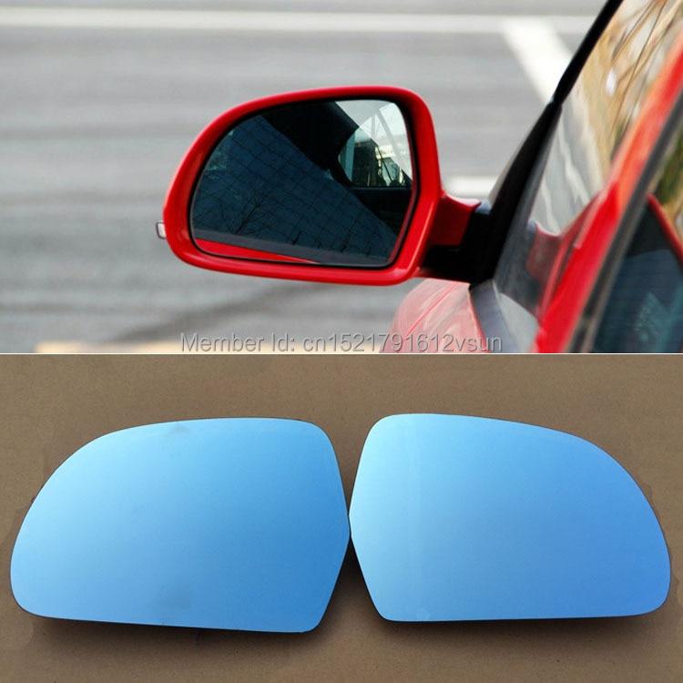 цена на smRKE 2Pcs For Skoda Octavia 2011-2014 Rearview Mirror Blue Glasses Wide Angle Led Turn Signals light Power Heating