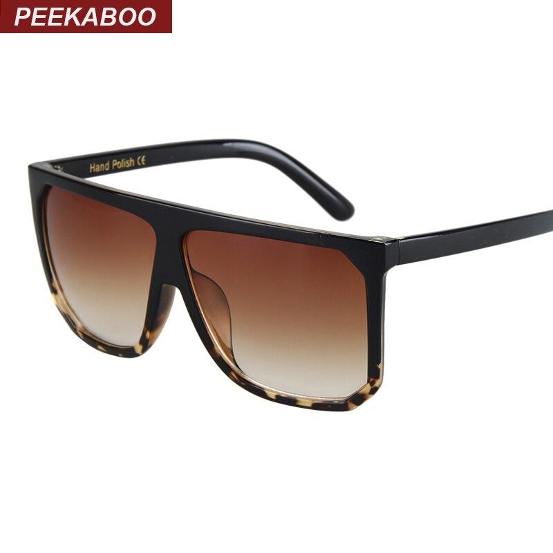Kiekeboe Zwart duidelijke oversized vierkante zonnebril vrouwen - Kledingaccessoires