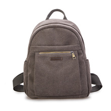 Lisse Vintage Fashion Canvas backpack unisex Student computer bag leisure