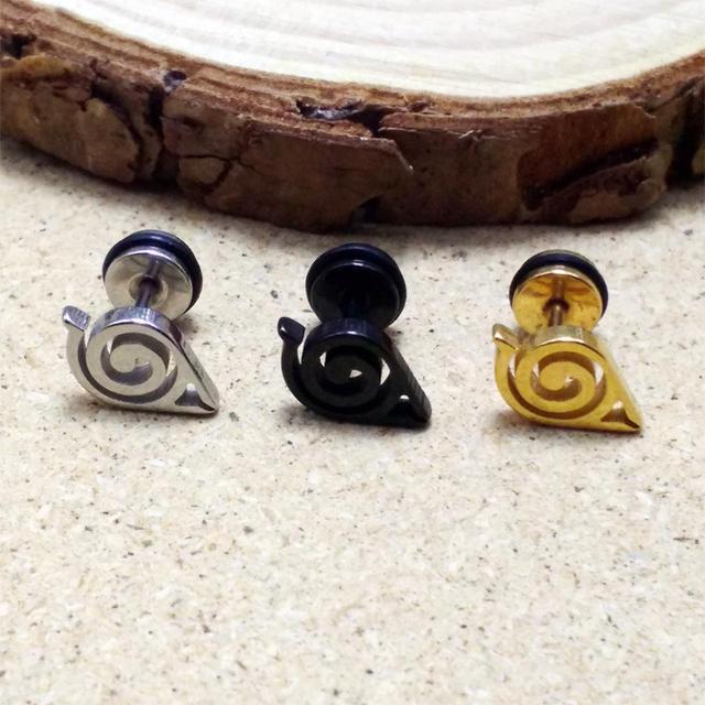 Naruto Konoha Logo Stud Earrings