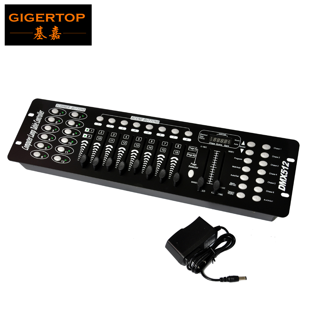 Gigertop TP-D01A Led Stage Lighting DMX 512 Controller Compacted Size AU/EU/US Power Plug Portable Programmable Scenes Fade time dmx512 digital display 24ch dmx address controller dc5v 24v each ch max 3a 8 groups rgb controller