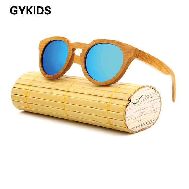 Bamboo Retro Wood Sunglasses (5 color)