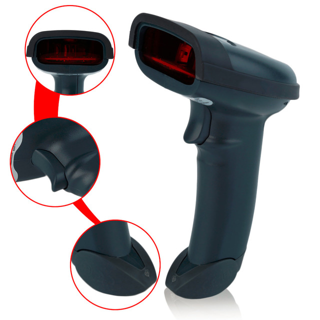 LESHP High Sensitive Wireless USB Laser Reader One Dimensional Bar Code Scanner