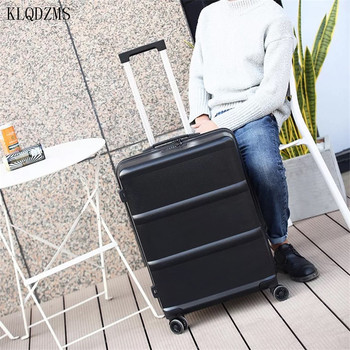 KLQDZMS Fashion 20/24inch rolling Luggage spinner women travel suitcase men trolley cabin case for business