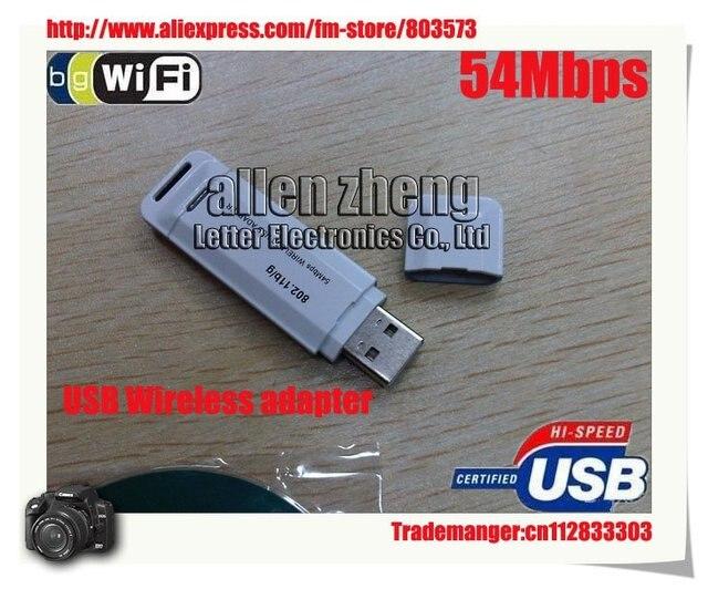DHL Free shipping Wifi adapter USB 802.11G 54M Wireless lan Adapter 50pcs/lot